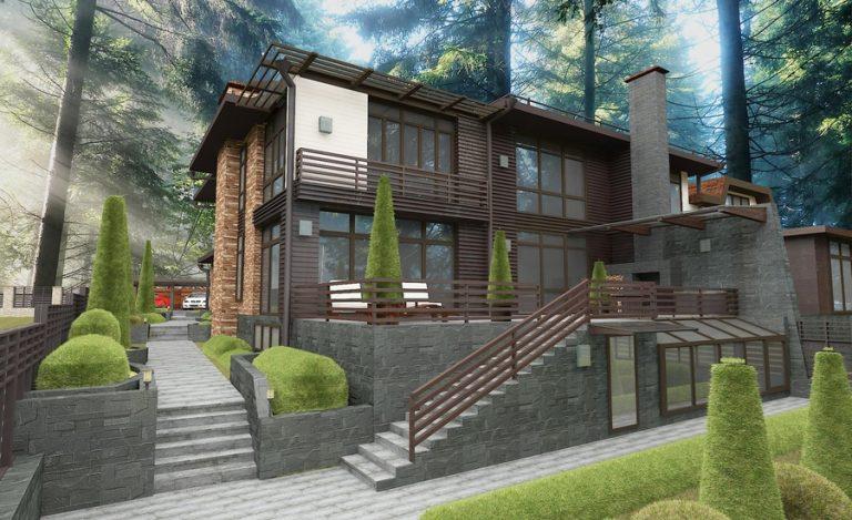 Дизайн фасада модерн