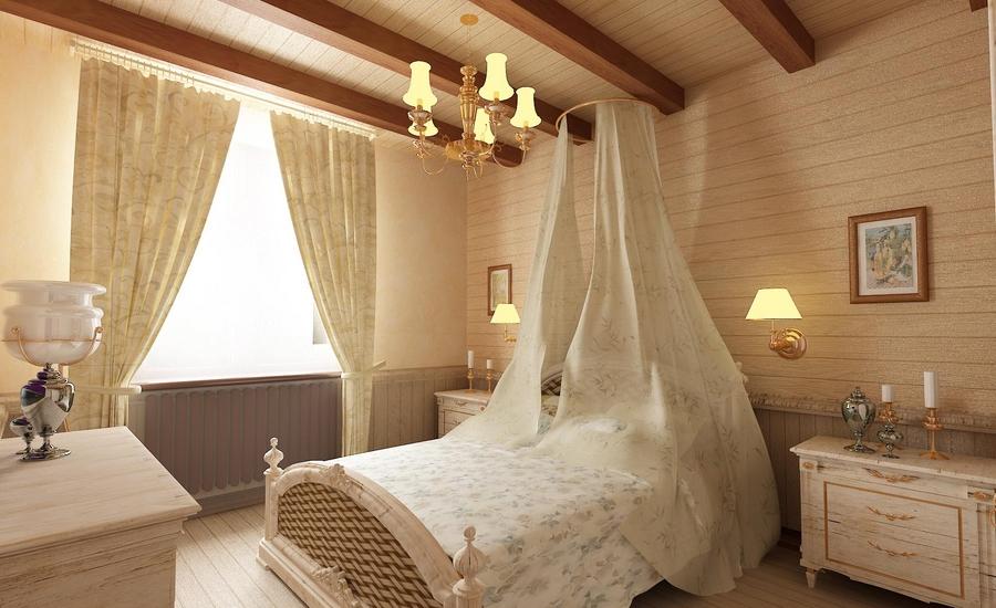 Дизайн спальни в силе прованс