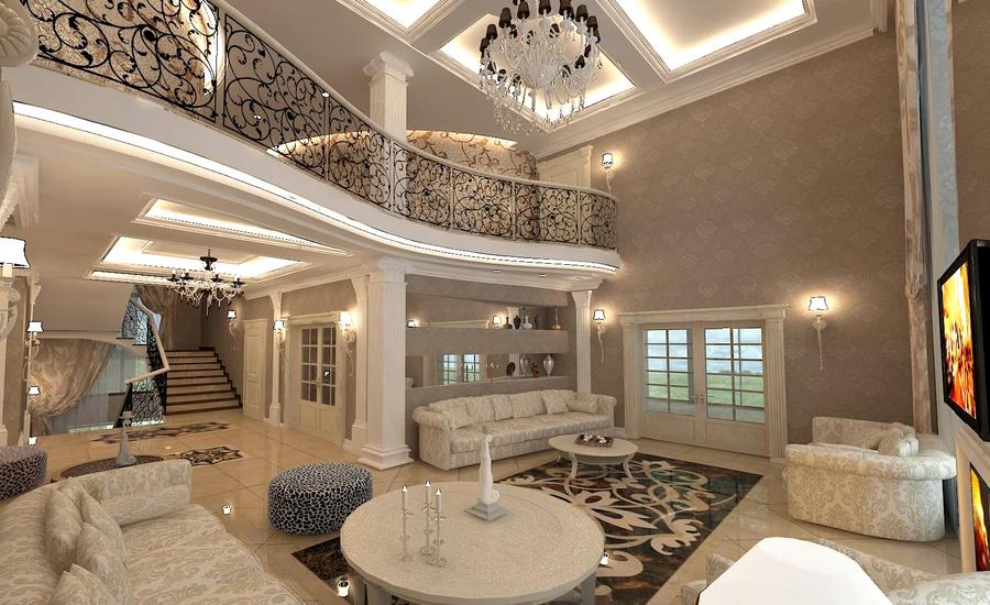 Дизайн двусветной гостиной