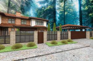 красивые проекты фасадов домов
