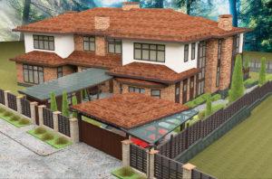 проект фасада дома