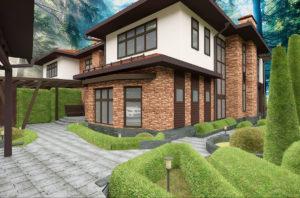 дом фасад отделка
